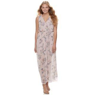 Juniors  Lily Rose Sleeveless Floral Maxi Dress  10052b75f