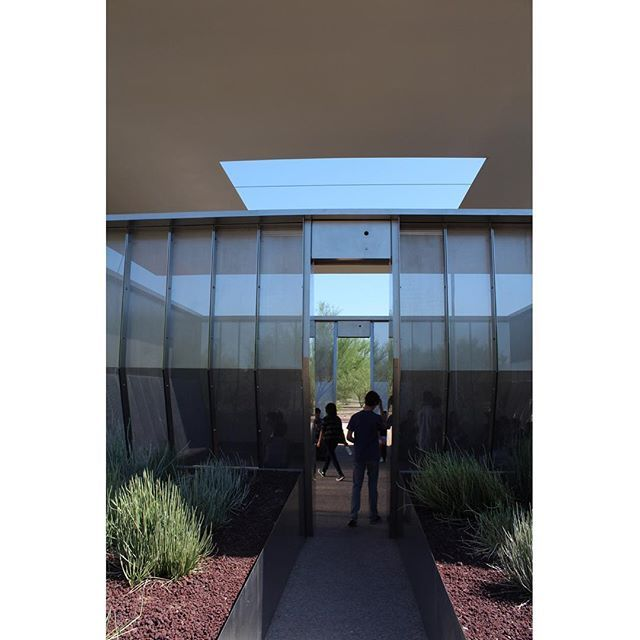 """#2015DesignPrimer at James Turrell's """"Air Apparent"""" Skyspace on ASU's Main Campus in Tempe."""