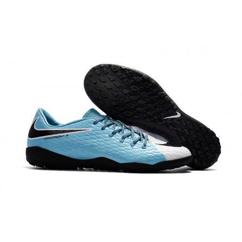 new concept d7e47 e54d4 Botas de fútbol de hombre Nike Hypervenom Phelon III TF Azul Blanco Negro  Hombre