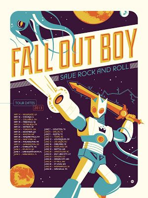 Fall Out Boy Dave Perillo Tour Poster On Sale Today
