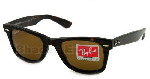 RAY BAN SUNGLASSES RB 2140 WAYFARER 902/57 TORTOISE POLARIZED 50MM Truly Classic & Never out of style<3