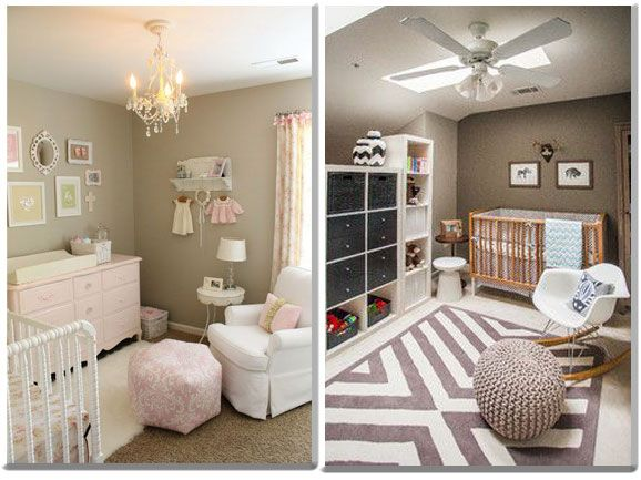 Ambiance chambre bébé taupe | Peinture | Baby bedroom, Baby room ...
