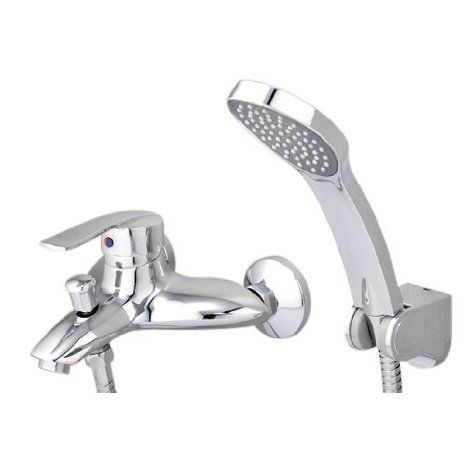 Bathroom Bath Faucets. Ouku Wall Mount Chrome Center Set Bathroom ...