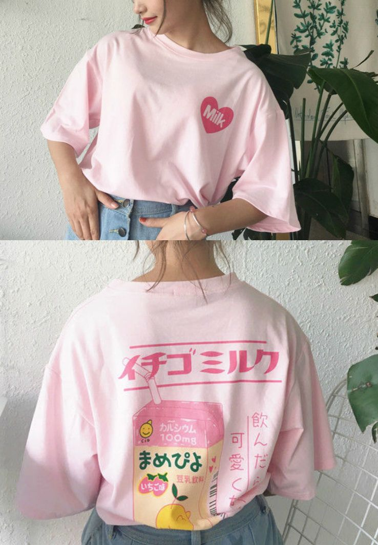 unique style top-rated real cheap for discount monroll - Printed Back Elbow Sleeve T-shirt | YesStyle I ...