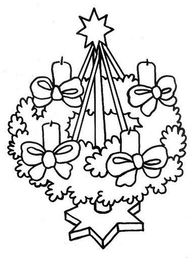 adventskrans thema kerstmis kerst knutselen kleurplaten
