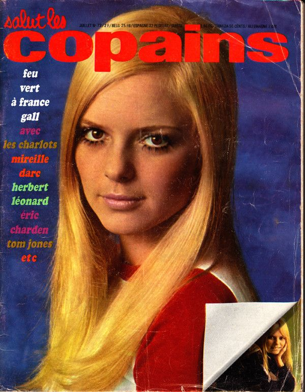 france gall salut les copains magazine n 72 juillet 1968 magazine annee 70 pinterest. Black Bedroom Furniture Sets. Home Design Ideas