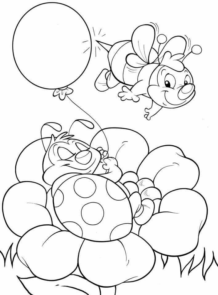 Cute Bugs Colouring Page Coloring Pages Coloring Pictures