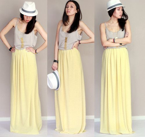 25 Impressive Maxi Skirt Outfits for Girls | Stylonica | maxi ...