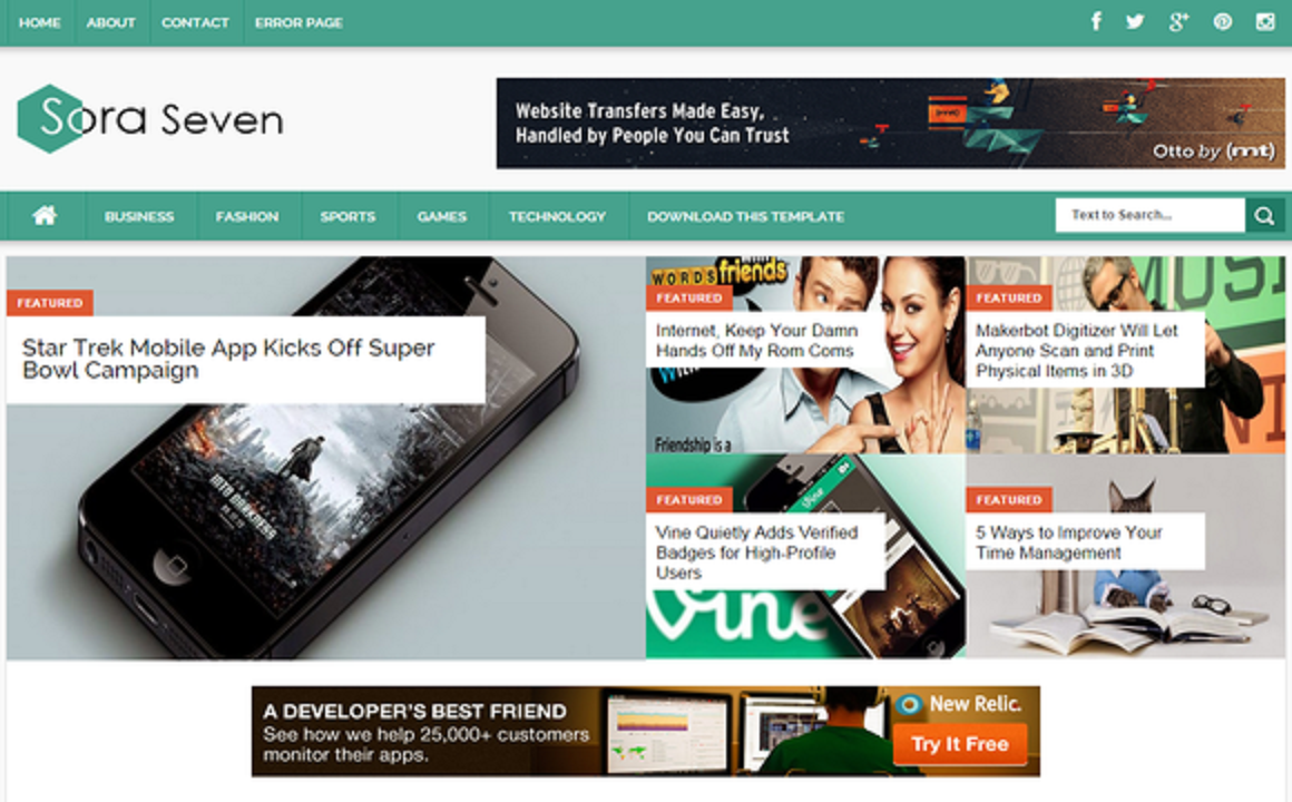 Blogger Templates Free Download. Increase your blog Page views using ...
