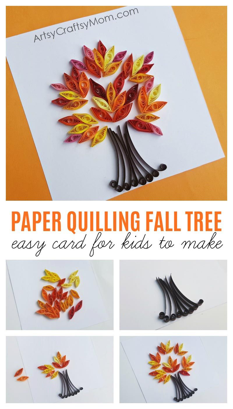 Quill a Tree for Autumn Quilling Kit