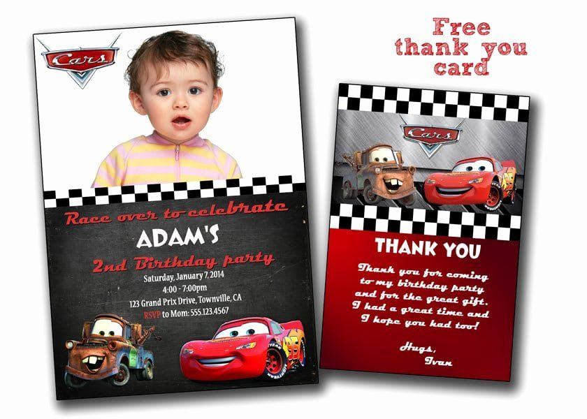 Cars Birthday Invitation Template Lovely Free Printable Disney Cars Birthday Invi Cars Birthday Invitations Disney Cars Birthday Car Birthday Party Invitations