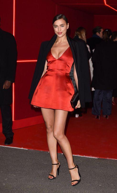 f8e19ff4bd4 Who Wore it Better  Selena Gomez vs. Irina Shayk vs. Lucy Hale in Christian  Dior s Red Satin Dress