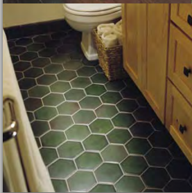 motawi 5 inch hexagon field tile 5002 lee green color could be rh pinterest com Bathroom Brown Tile Floor Dark Grey Bathroom Floor Tile