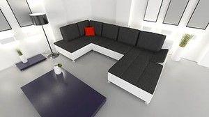 U Form Sofa Couchgarnitur Polsterecke Wohnlandschaft Mit