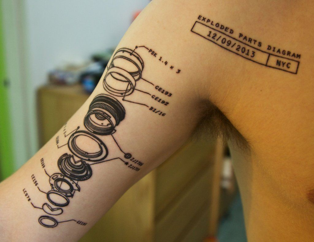 17 best images about diagrams the solar system and tattoo ideas exploding lens diagram tattoo done by brian at tattoo culture nyc