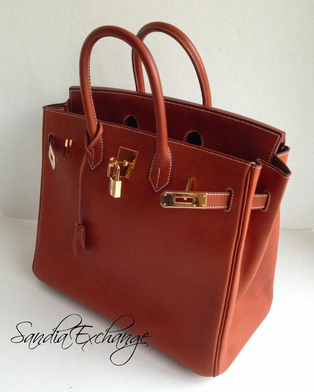 HERMES HAC 32 cm Barenia Birkin Fauve Gold Hardware Authentic HERMÈS -  Images hosted at BiggerBids.com e28eb9aff46e7