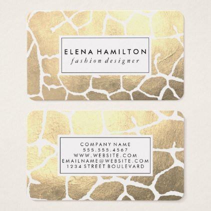 #makeupartist #businesscards - #Glamour Luxe Pattern Business Card