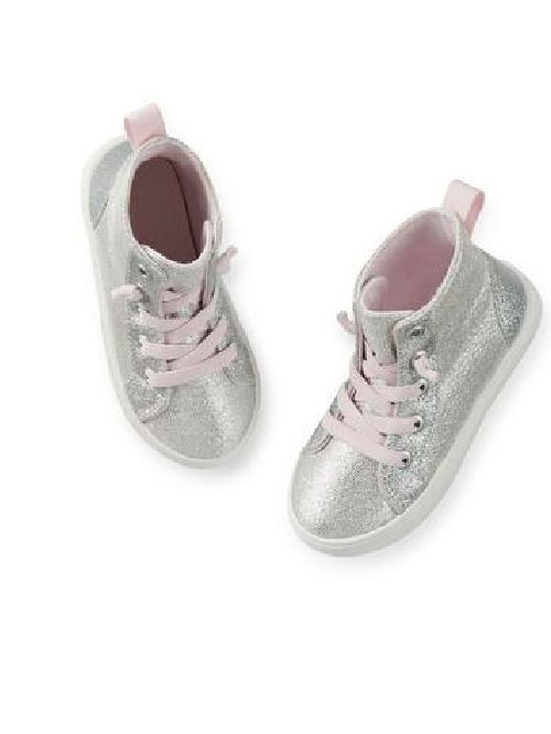 NEW Carter'sToddler Girls  Sparkle Hightop Sneakers Size 7-9-11 shoes #carters #Booties