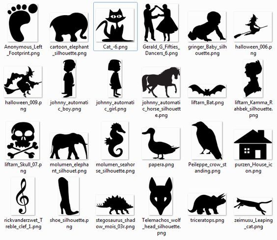 Download More than 600 free silhouette SVG Cliparts that can be ...