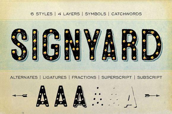 Signyard Family by Albatross on Creative Market