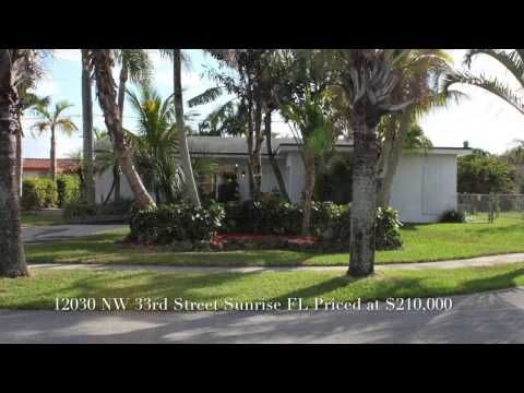 Home For Sale At 12030 Nw 33rd St Sunrise Florida South Florida