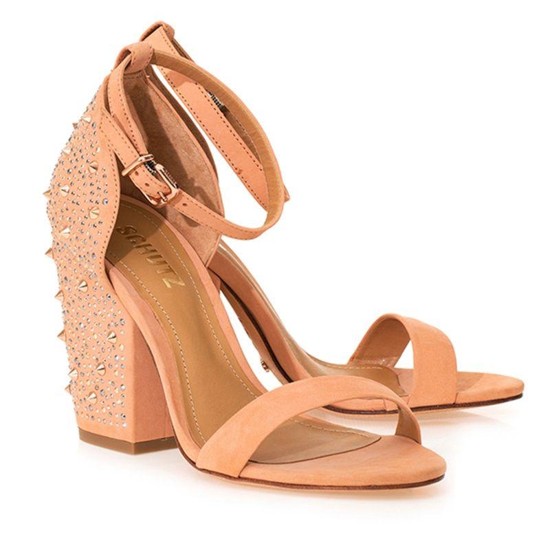8509ed32b SANDÁLIA SALTO BLOCO NUDE - Schutz | LifeStyle | Shoes Lover ...