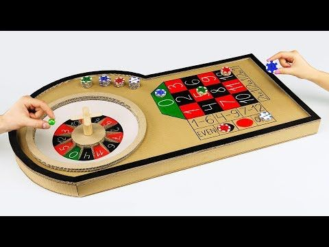 How To Make Mini Casino Roulette Game From Cardboard At Home Youtube Roulette Game Casino Party Games Casino
