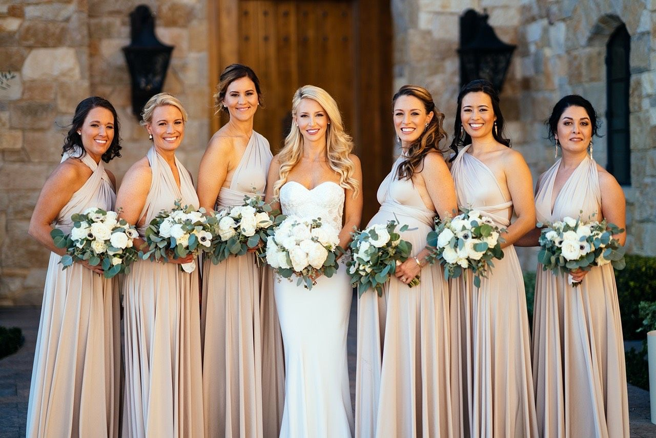 Oyster, Neutral, twobirds bridesmaid dresses