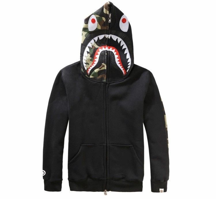 439c8096e466 BAPE Shark Hoodie s available in grey