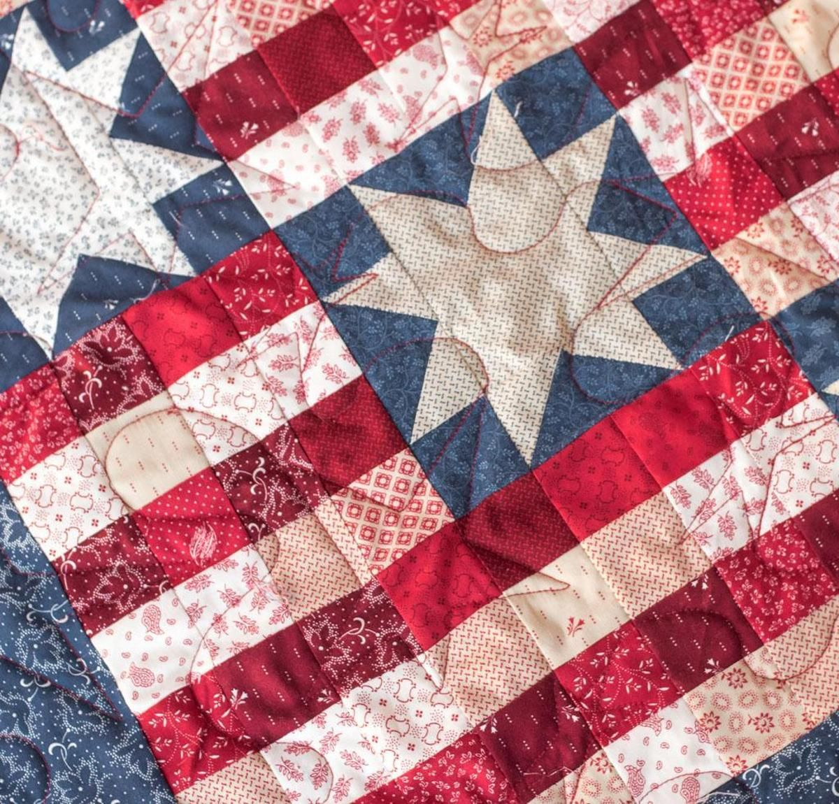 Stars and Stripes Quilt Kit | Striped quilt : stars and stripes quilt pattern - Adamdwight.com