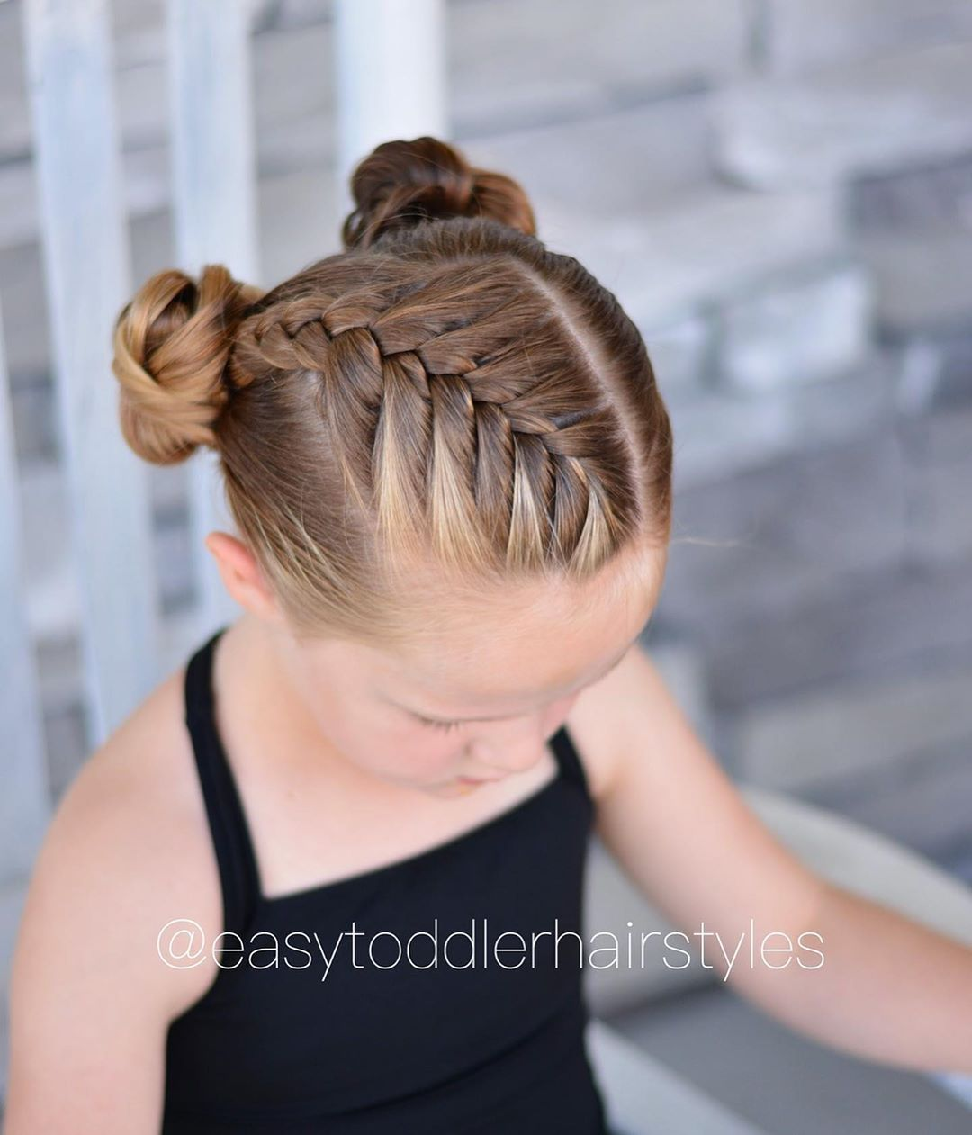Tiffany Hair For Toddlers On Instagram Front Diagonal French Braid Into Do Cute Hairstyles For Medium Hair Kids Braided Hairstyles Toddler Hairstyles Girl