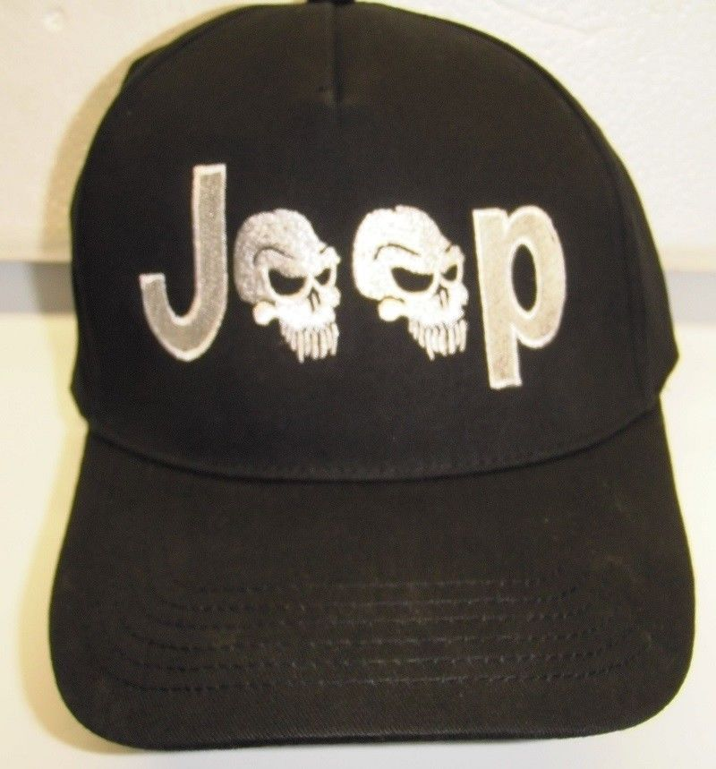 5dd11a66a00 JEEP LOVER Hat - Classy EMBROIDERED with JEEP SKULLS DESIGN - CRUSHPROOF BOX