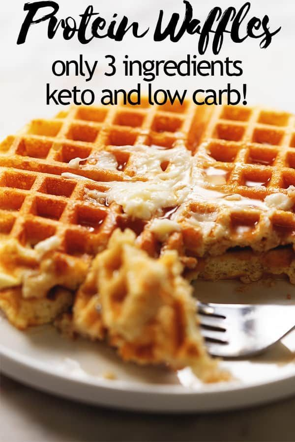Keto Protein Waffles - Only 4 Ingredients!
