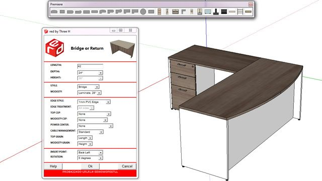RED Rapid easy design plugin for SketchUp allows to design