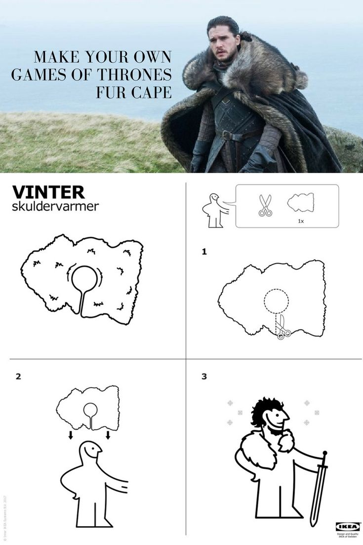 game of thrones cape ikea
