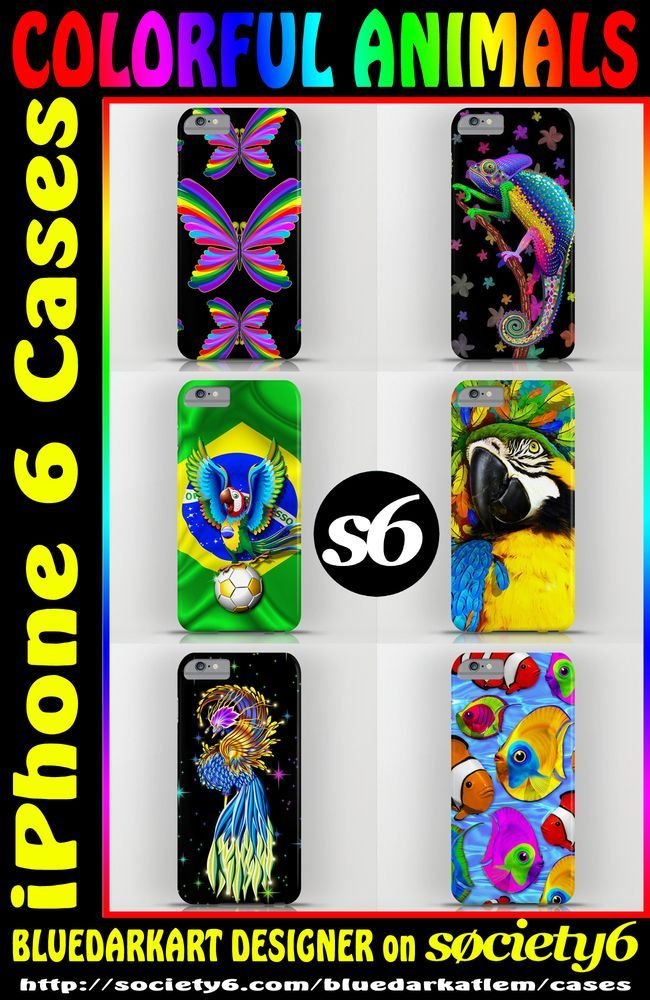 #Colorful and #Exotic #Animals on #iPhone_6_cases!  Some Awesome #Christmas_Gifts_ideas!  by #Bluedarkart_Designer - on #Society6_Shop   https://bluedarkart.wordpress.com/2014/12/03/colorful-animals-on-iphone-6-cases/  http://society6.com/bluedarkatlem
