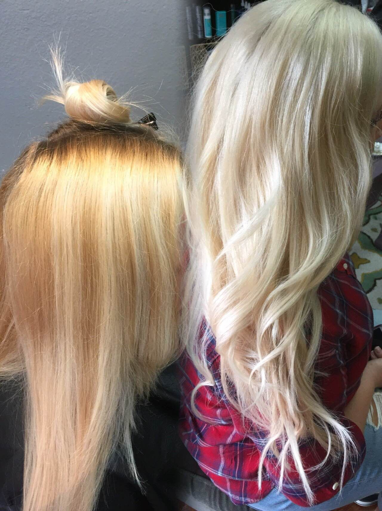 Color Correction Uneven To Bombshell Blonde Bleached Hair