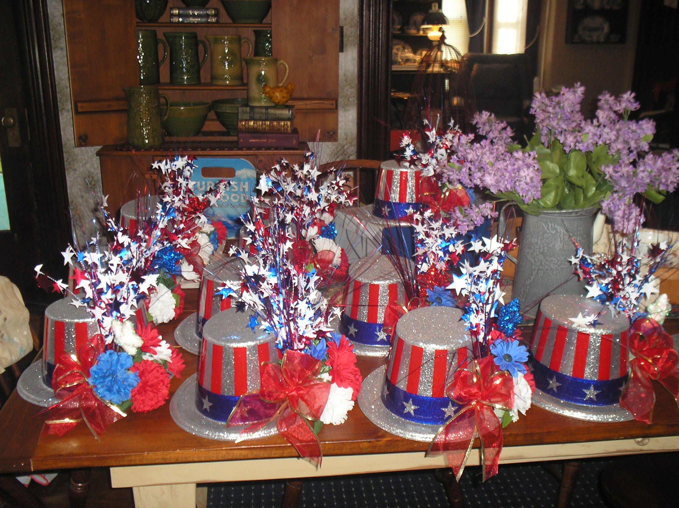 Uncle Sam Hat Centerpieces