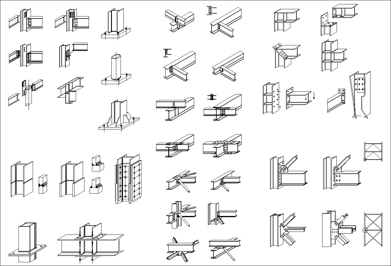 Steel Structure Detail Cad Drawings Download httpswww