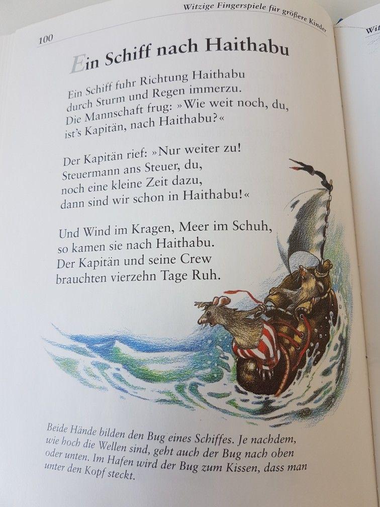Ein Schiff nach Haithabu #fingerspiel #krippe #kita # ...