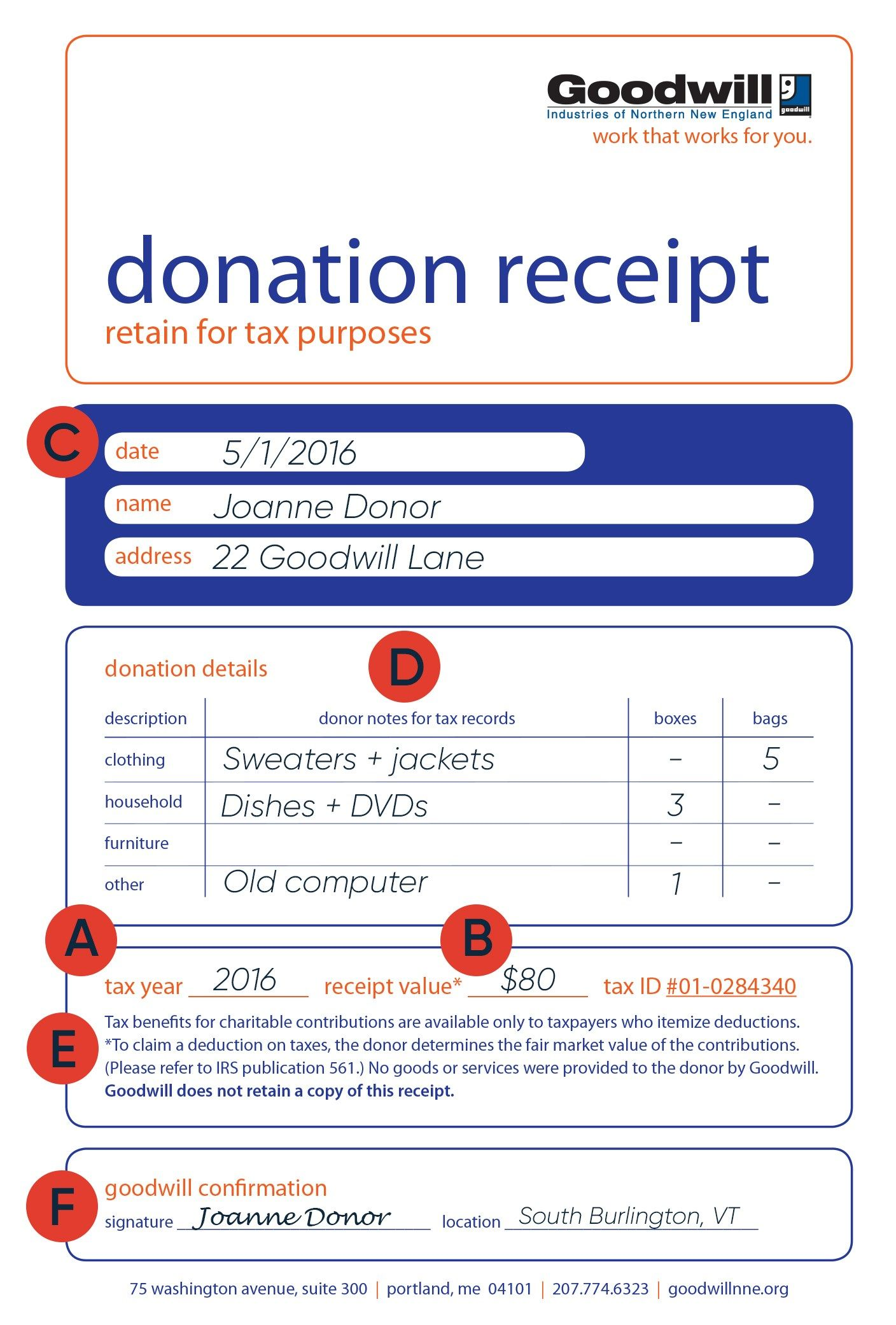 graphic relating to Printable Goodwill Donation Receipt named How in direction of fill out a Goodwill Donation Tax Receipt Goodwill
