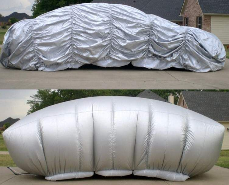 Hail Protection Car Cover >> Inflatable Cover Offers Shelter From Hail Damage Detroit News