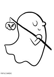 Fantasmi di Halloween da colorare.  870a03badefc
