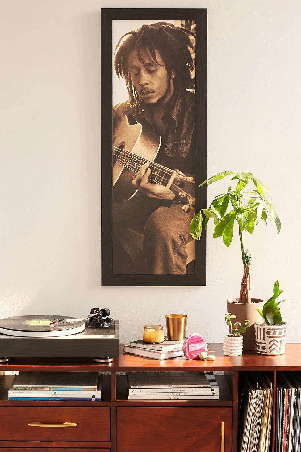 Bob Marley Framed Wall Art - Urban Outfitters   Wall Space ...