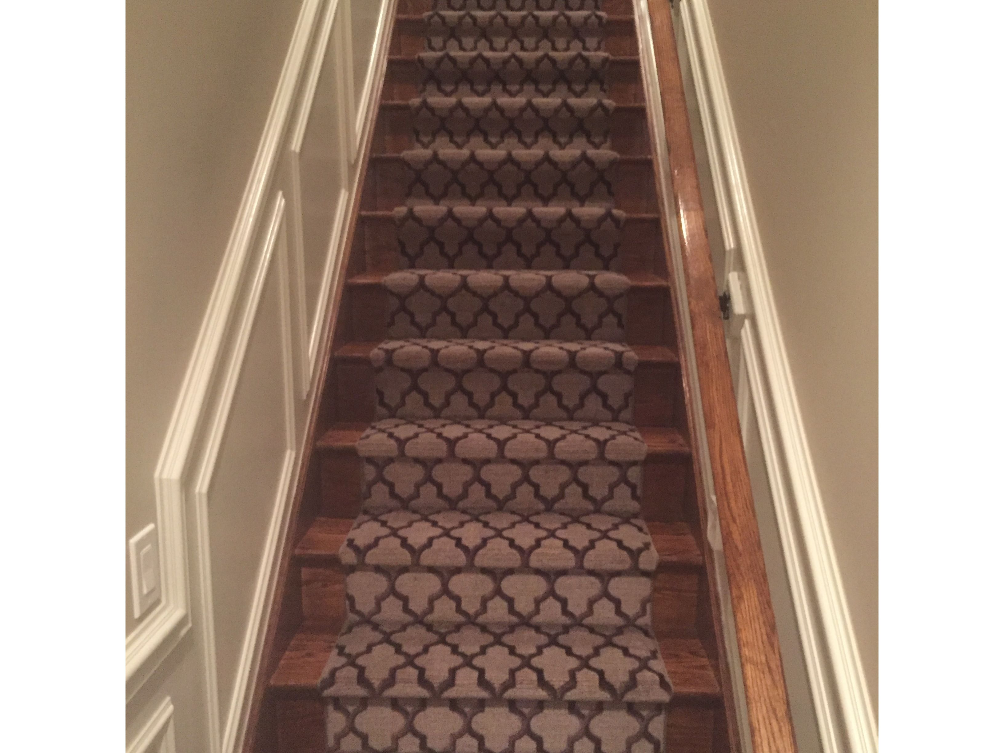 Moroccan Patterned Carpet Stair Runner Stanton S Botticelli In Mocha