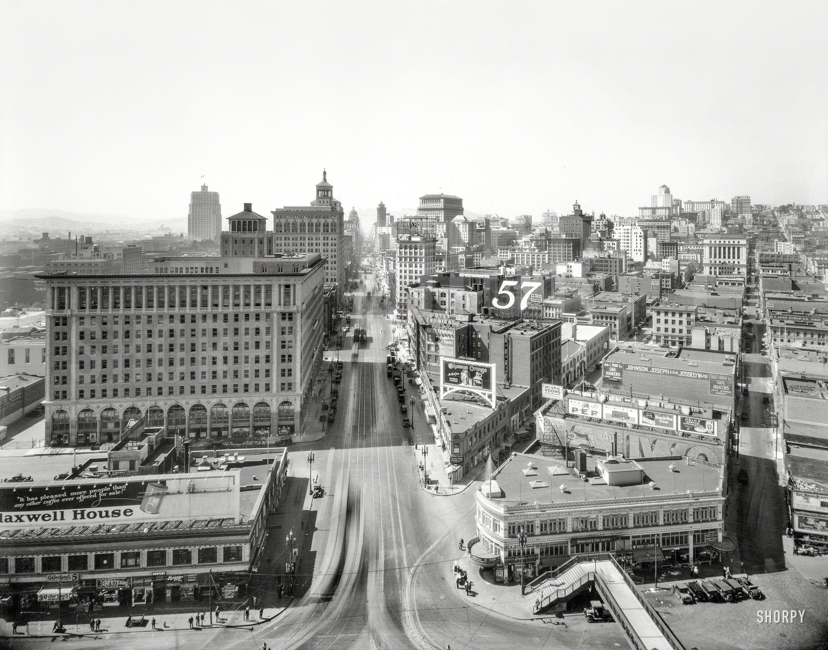 Market Street 1926 High Resolution Photo San Francisco Streets San Francisco Earthquake San Francisco Bay Area