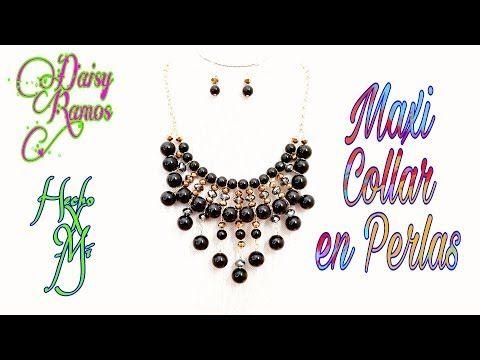 cda8c5c98557 Como hacer un Collar Elegante con Perlas   Pekas Creaciones - YouTube