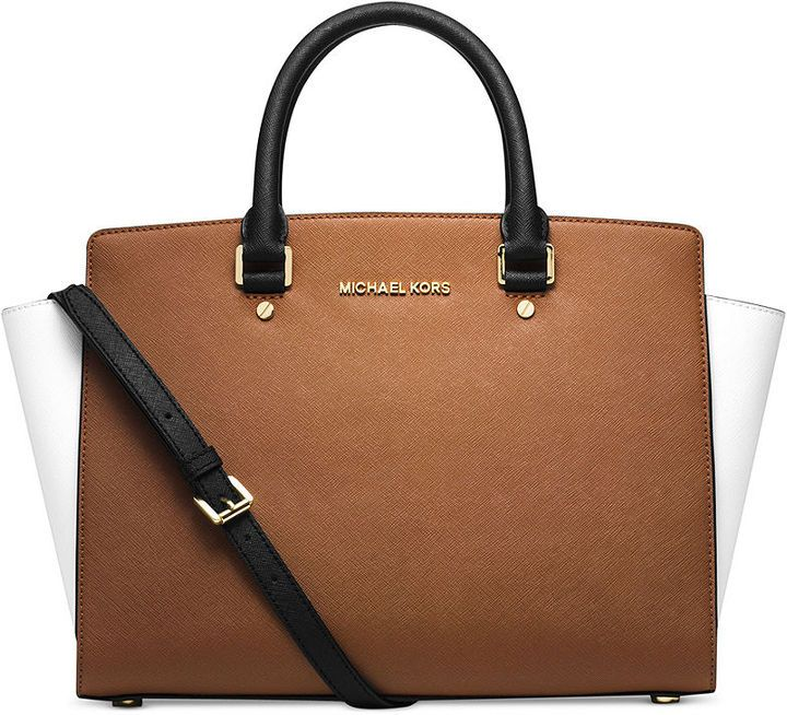 9332a64289a7 MICHAEL Michael Kors Selma Large Colorblock Satchel on ShopStyle ...