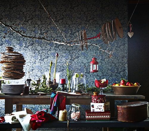 Ikea Christmas Collection 2013 Trend: Traditional #Christmas with a Modern Twist in the #Kitchen. (Photo #Ikea)