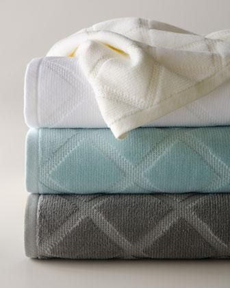 Photography Gallery Sites Parisian Diamond Bath Towels Neiman Marcus From the modern geometric pattern to the fresh color